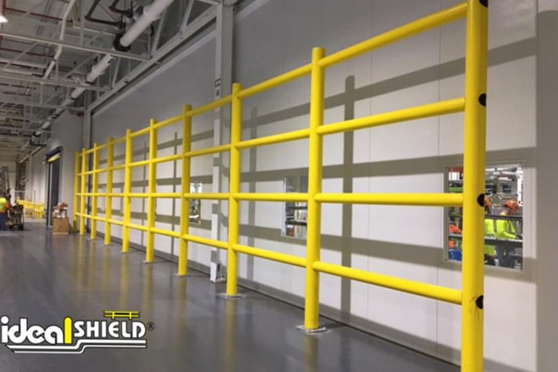 Ideal Shield's Safety Wall Guard System lining an in-plant wall