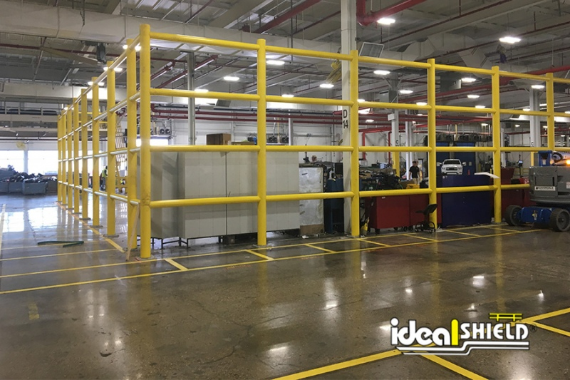 Ideal Shield's Wall Guard System forming a closed off section inside the plant