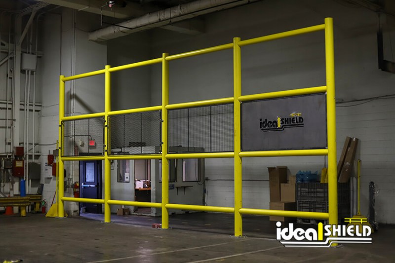 Ideal Shield's Wall Guard System inside the Ideal Shield warehouse