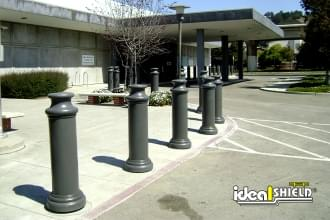 Grey Pawn Decorative Bollard Cover
