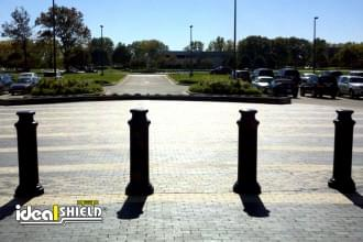 Black 10 Inch Pawn Decorative Bollard Cover