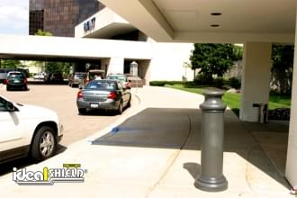 Grey 10 Inch Pawn Decorative Bollard Cover