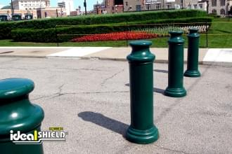 Green 10 Inch Pawn Decorative Bollard Cover