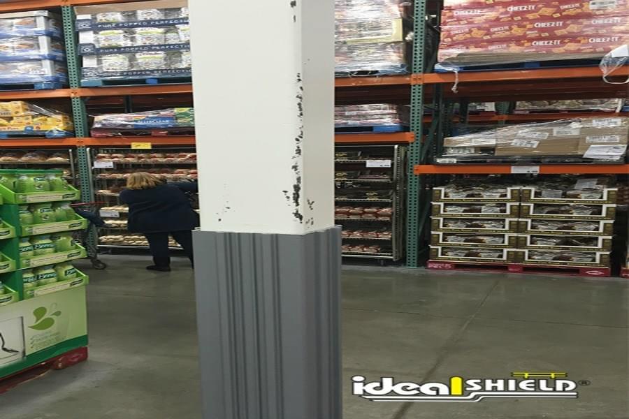 Column Wraps Prevent Damage Shown Here