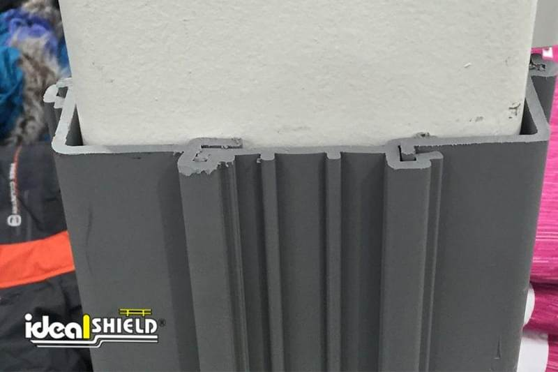 Ideal Shield's Gray Square Column Wrap Fits Snug Along Column