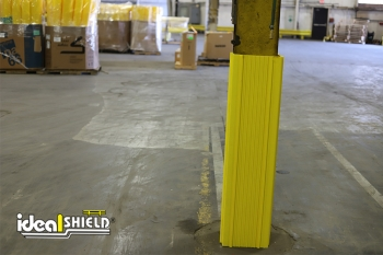 Ideal Shield's yellow Column Wrap around a warehouse column