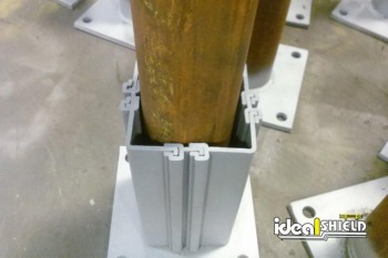 "Our 5"" Square Column Wrap Fits Over 4"" Pipe"