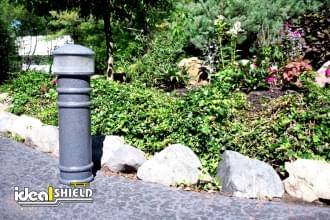 Grey Hard Wired Lighted Bollard Cover