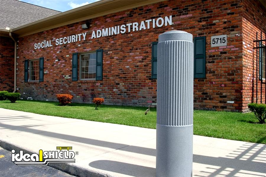 "Ideal Shield's 10"" Ribbed Decorative Bollard Covers"
