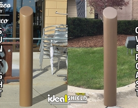 Metallic Bronze Bollard Cover Comparison
