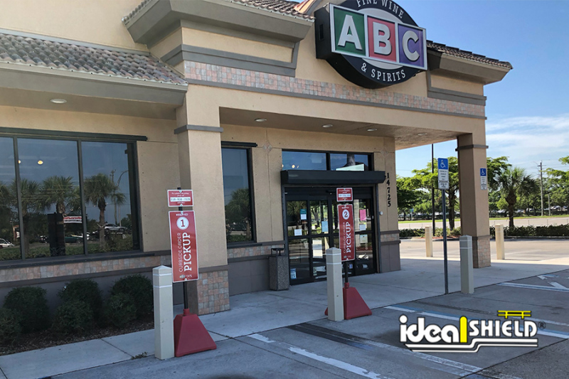 Ideal Shield's  Red Pyramid Sign Base at ABC Fine Wine & Spirits
