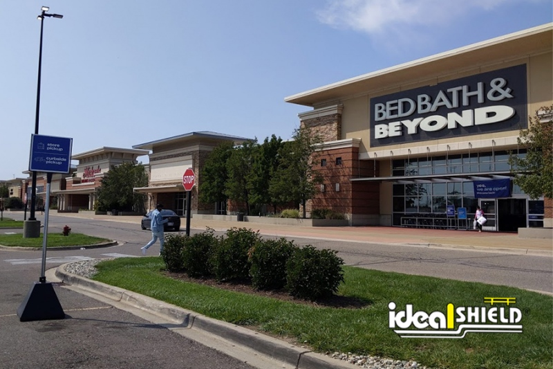 Ideal Shield's Black Curbside Pickup Sign Bases at Bed Bath and Beyond