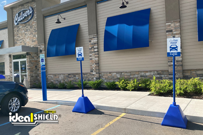 Ideal Shield's Blue Sign Bases at  Culver's