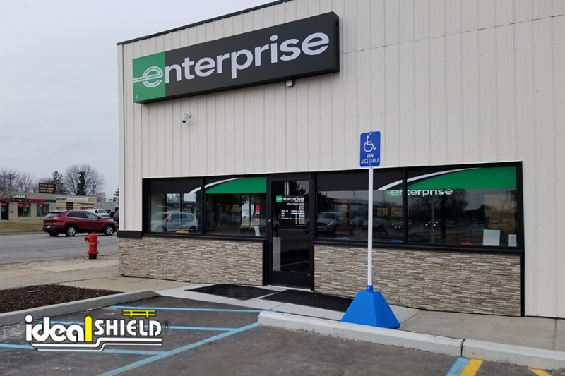 Ideal Shield's Handicap Sign Base at Enterprise