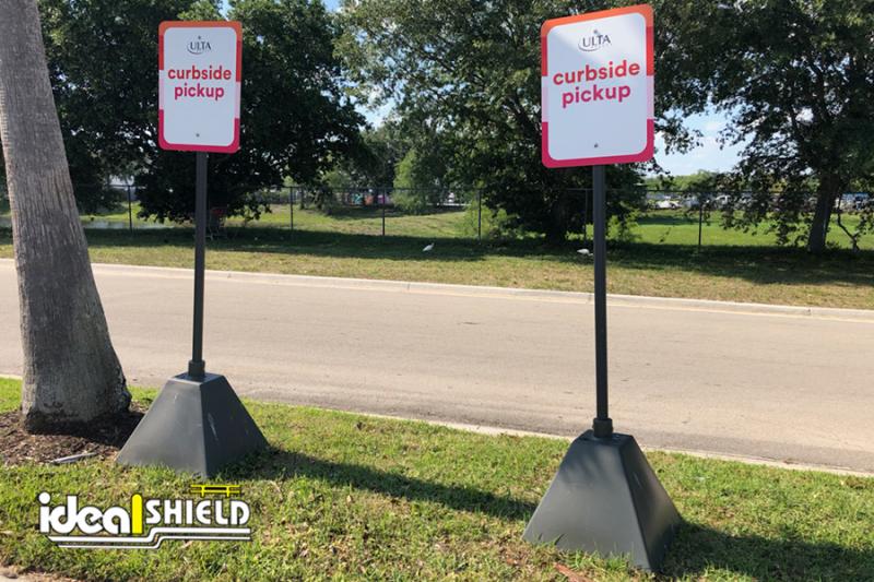 Ulta Curbside Pickup Sign Bases