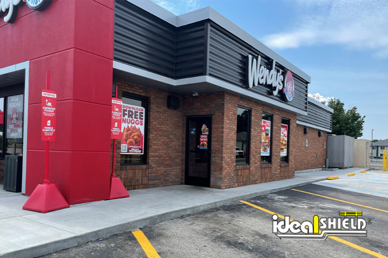 Ideal Shield's Red Sign Bases at  Wendy's