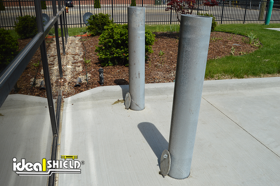 Ideal Shield's Removable Locking Bollards without covers