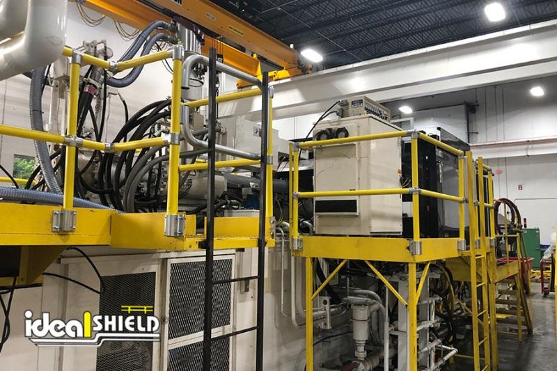 Ideal Shield's Steel Pipe & Plastic Handrail guarding machines