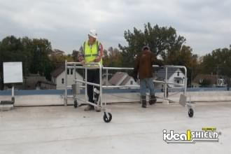 Added Rooftop Parapet Protection With Mobile Parapet Railing