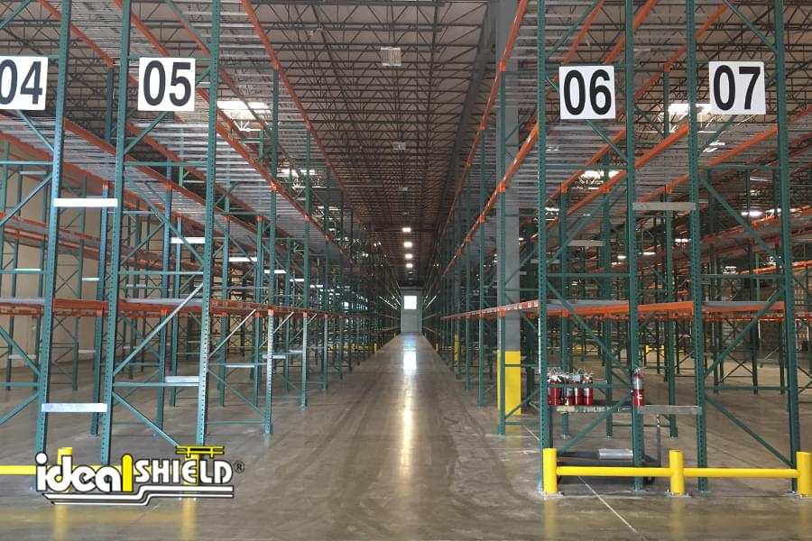 Ideal Shield's Yellow Rack Guard for Warehouse Pallet Rack Protection