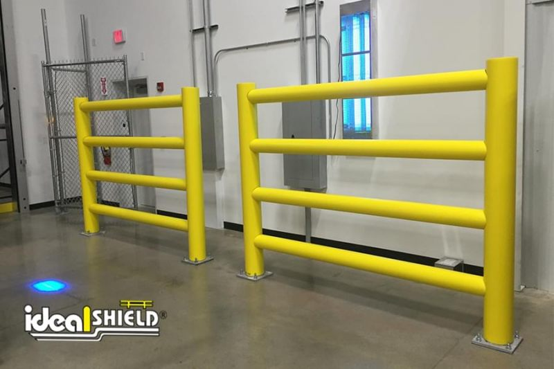 Ideal Shield's Custom Yellow Rack Guard for Warehouse Protection