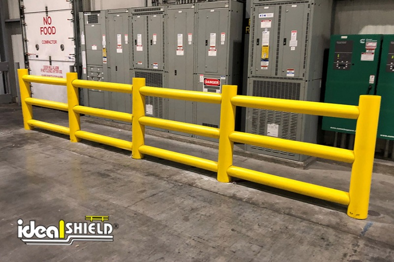 Ideal Shield's Three-Line Custom Designed Rack Guard System protecting critical assets