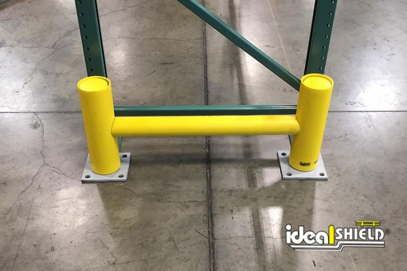 Ideal Shield's Yellow Rack Guard with Square Base Plates