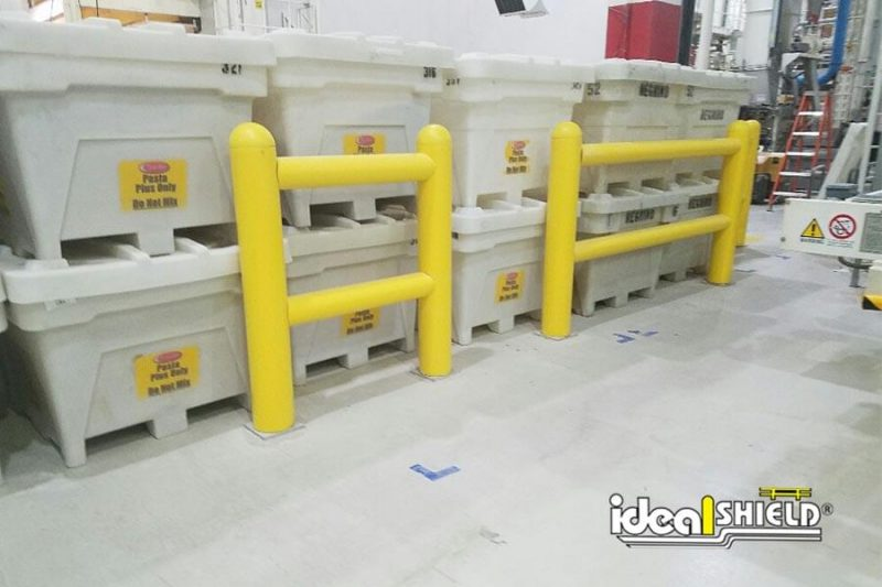 Two-Line Rack Guardrail Systems Protecting Storage