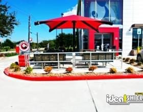 Aluminum Handrail Restaurant Patio Dining Protection
