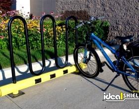 Black Bike Rack With Charging Ports