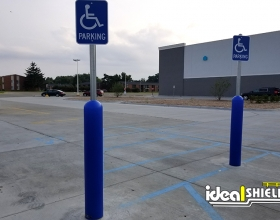 Ideal Shield's Bollard Sign Systems used for Handicap Accessible Parking Spots at At Home