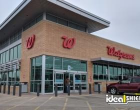 Ideal Shield's Bollard Sign Systems used at Walgreen's