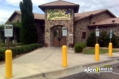 Yellow Retail Bollard Sign System