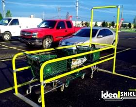 Yellow Parking Lot Cart Corrals