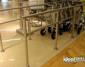 Steel Indoor Cart Corral