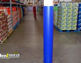 Ideal Shield's blue circle Column Wrap at Costco