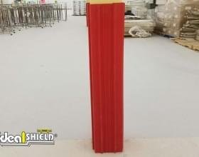 Ideal Shield's red square plastic Column Wrap