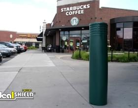 "10"" Cinco Decorative Bollard Cover Storefront Green"