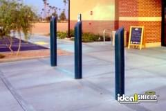 "6"" Skyline Decorative Bollard Cover Store Front Black"