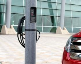 Ideal Shield's Electric Vehicle Charging Stations at a parking lot