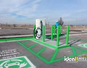 Ideal Shield's Bollard Covers Protecting EV Charging Stations