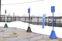 Green, Black, & Blue Octagon Sign Base Handicap Parking