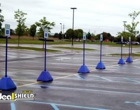 Blue Pyramid Sign Base Handicap Parking
