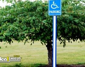 Blue Parking Lot U-Channel Handicap Parking Post Sleeve