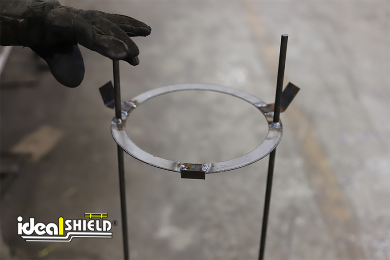Close up of Ideal Shield's Steel Sizing Insert