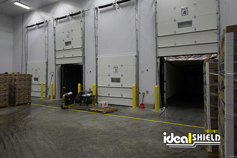 Ideal Shield's Super Saver Bollards in a distribution facility
