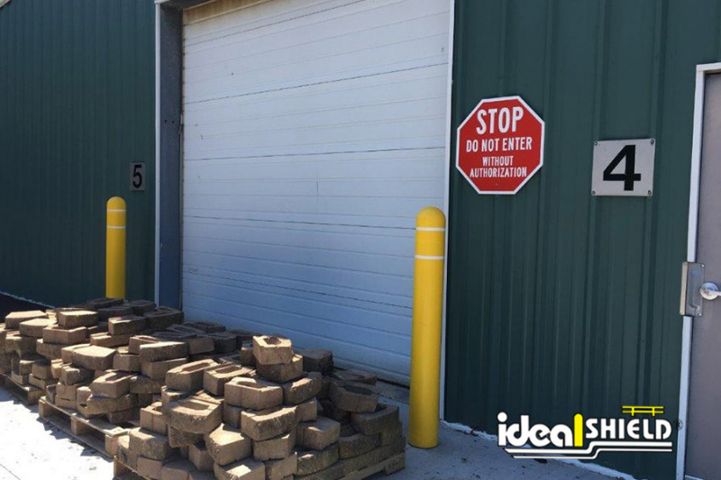 Ideal Shield's Super Saver Bollards used for garage edge protection