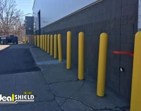 Ideal Shield's yellow plastic bollard covers