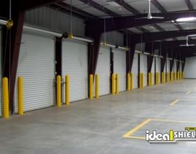 Warehouse Dock Doors Protected By Bollard Sleeves