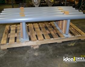 Custom Grey Guardrail With Endcaps